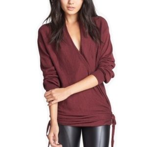 Leith Double Side Tie Wrap Sweater Cardigan Med